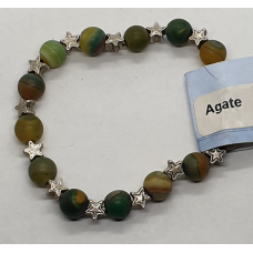 Agate - Dyed Star Charm Bracelets - Bead