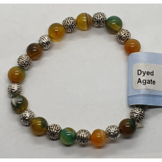 Agate - Dyed Round Charm Bracelets - Bead