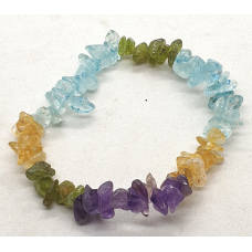 Crystal - Mixed - Dyed Chip Bracelet