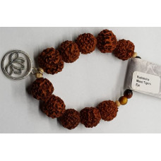 Rudraksha & Mixed Tigers Eye Large Beaded Bracelets