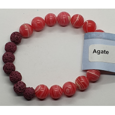 Agate - Red & Lava Stone Bead Bracelets