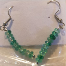Bead Earrings - Agate - Green
