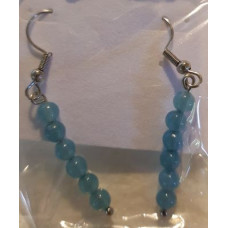 Bead Earrings - Aquamarine