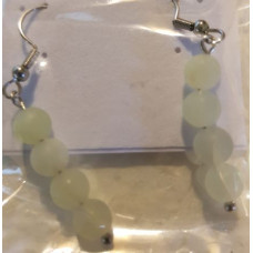 Bead Earrings - Jade - Old