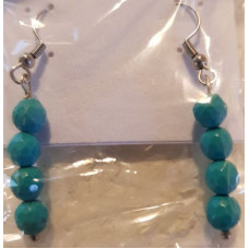 Bead Earrings - Turquoise