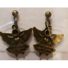 Charm Earrings - Bronze - Angel
