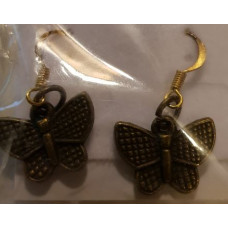 Charm Earrings - Bronze - Butterfly
