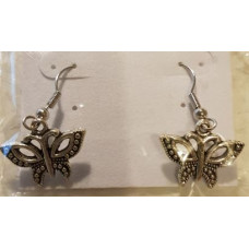 Charm Earrings - Silver - Butterfly