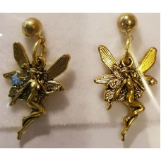 Charm Earrings - Gold - Fairy