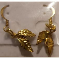 Charm Earrings - Gold - Leaves