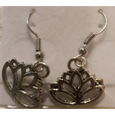Charm Earrings - Silver - Key