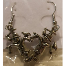 Charm Earrings - Silver - Scarecrow
