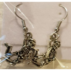 Charm Earrings - Silver - Skeleton