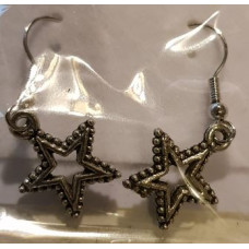 Charm Earrings - Silver - Star