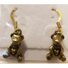 Charm Earrings - Gold - Teddy Bears