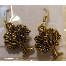 Charm Earrings - Gold - tree of Life