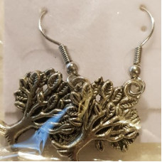 Charm Earrings - Silver - Tree of Life