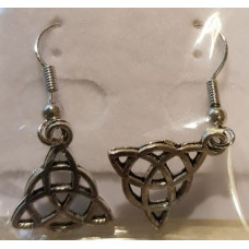 Charm Earrings - Silver - Triquetra