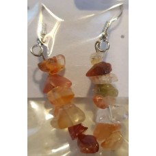 Chip Earrrings - Carnelian