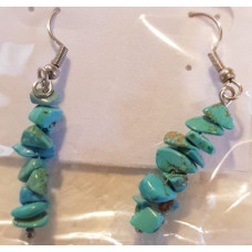 Chip Earrrings - Howlite - Blue