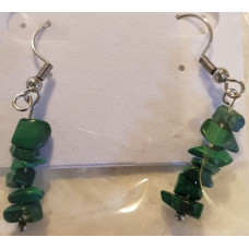 Chip Earrrings - Malachite