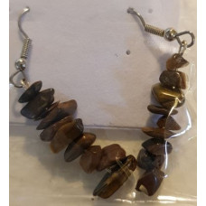 Chip Earrrings - Tigers Eye - Yellow