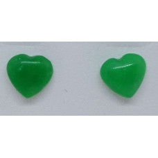 Aventurine - Green Heart Earrings