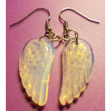 Opalite Angel wing earrings