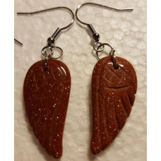 Red Goldstone Angel wing Earrings