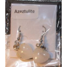 Azeztulite Heart Earrings