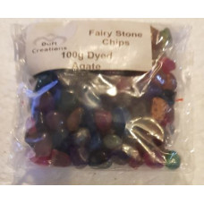 100 g Dyed Agate Fairy Stones