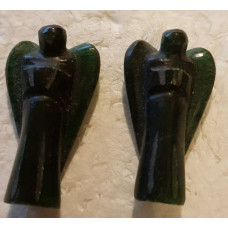 30 mm Aventurine - Dark Green Stone Angels