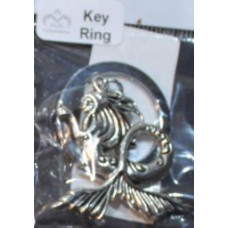 Silver Charm Keyrings - Mermaid