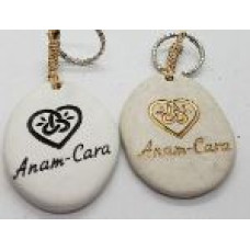 Stone - Words Keyring - Anam Cara - Black