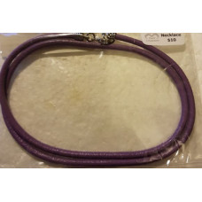 Leather - Lavender Thick Necklace