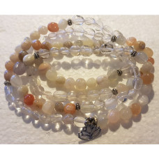 108 Bead Mala - Mixed Moonstone/CQ