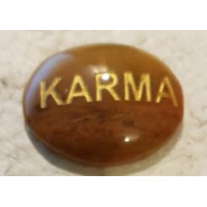 Karma Palmstone - Calcite - Orange