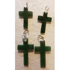 Aventurine - Green Cross Pendants