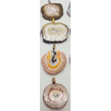 Agate - Stalactite Brown Pendants