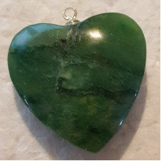 Agate - Green Heart Pendants