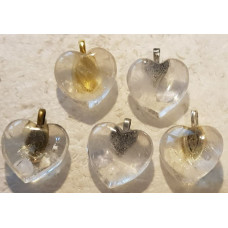 Quartz - Clear Heart Pendants