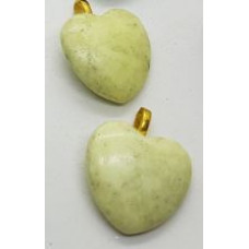Jade - Yellow Heart Pendants