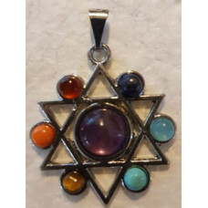 Star of David Chakra Silver Pendant