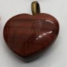 Tigers Eye - Red Heart Pendants