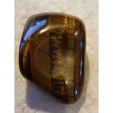 Tigers Eye - Yellow Large Tumble Pendant