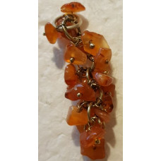 Carnelian Chip Pendant with Metal