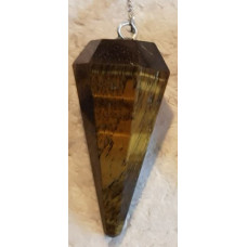 Tigers Eye - Yellow - Point Pendulum