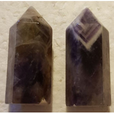 Amethyst - Chevron Small Pillar