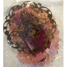 Agate Slice - Filigree - Cherry Quartz