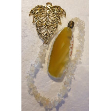 Agate Slice - Leaf - Citrine